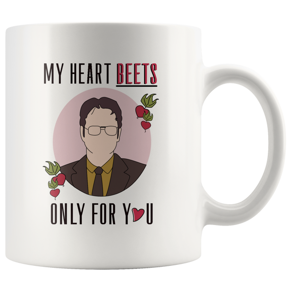 My Heart Beets Only For You Valentine's Day Mugs-Drinkware-My Heart-Itees Global