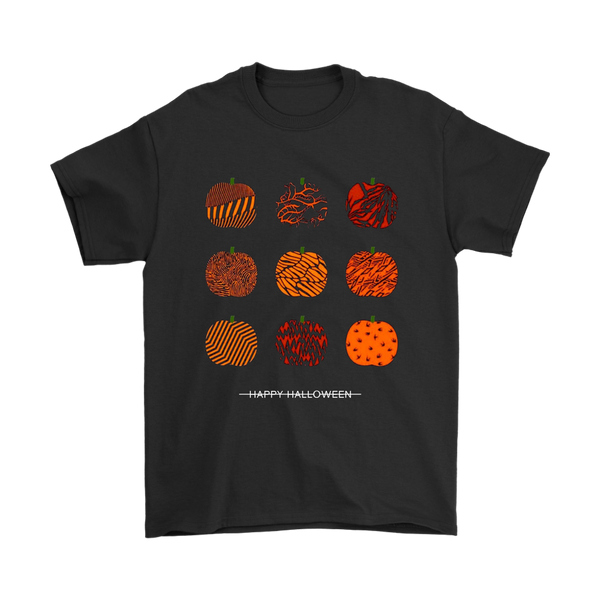 Happy Halloween Party Pumpkins Shirts-T-shirt-Gildan Mens T-Shirt-Black-S-Itees Global