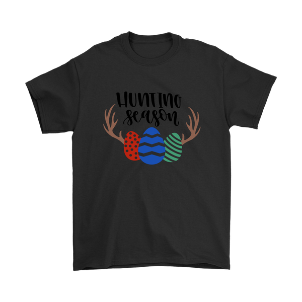 Hunting Season Easter Shirts-T-shirt-Gildan Mens T-Shirt-Black-S-Itees Global