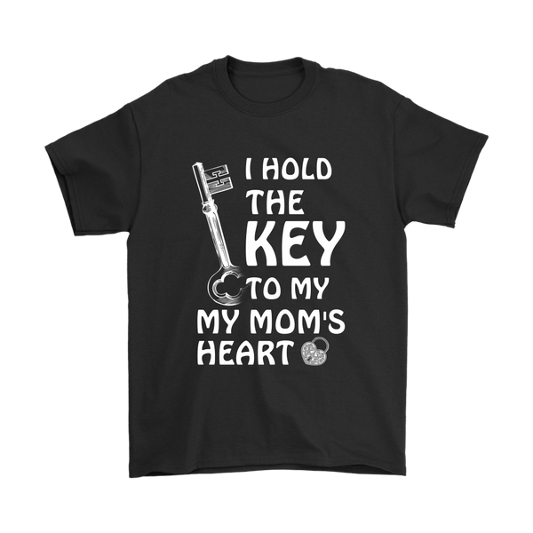 I Hold The Key To My Mom's Heart Family Shirts-T-shirt-Gildan Mens T-Shirt-Black-S-Itees Global