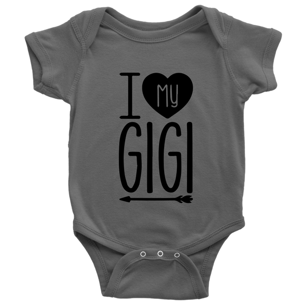 I Love My GiGi Shirts-T-shirt-Baby Bodysuit-Asphalt-NB-Itees Global