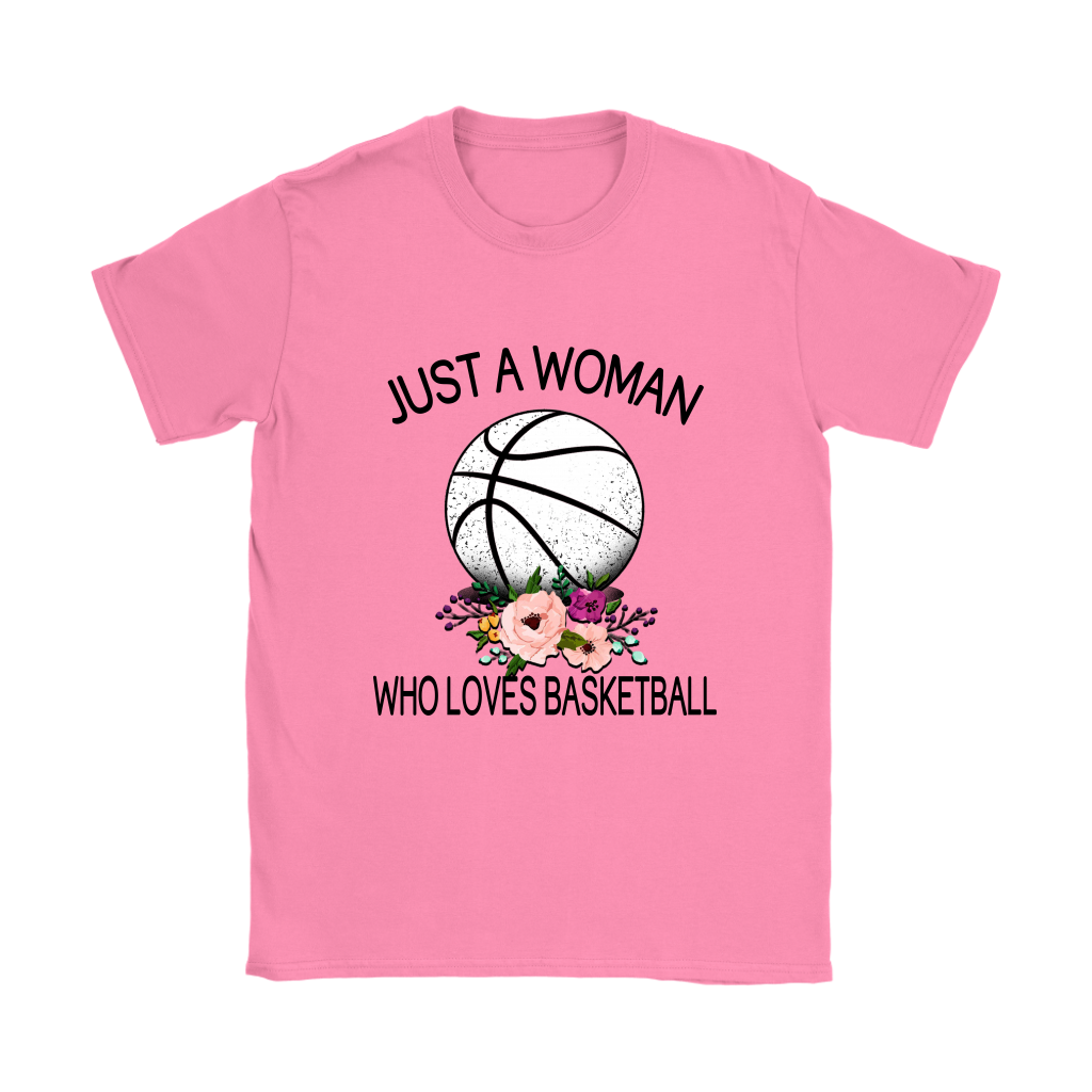 Just A Woman Who Loves Basketball Sports Shirts