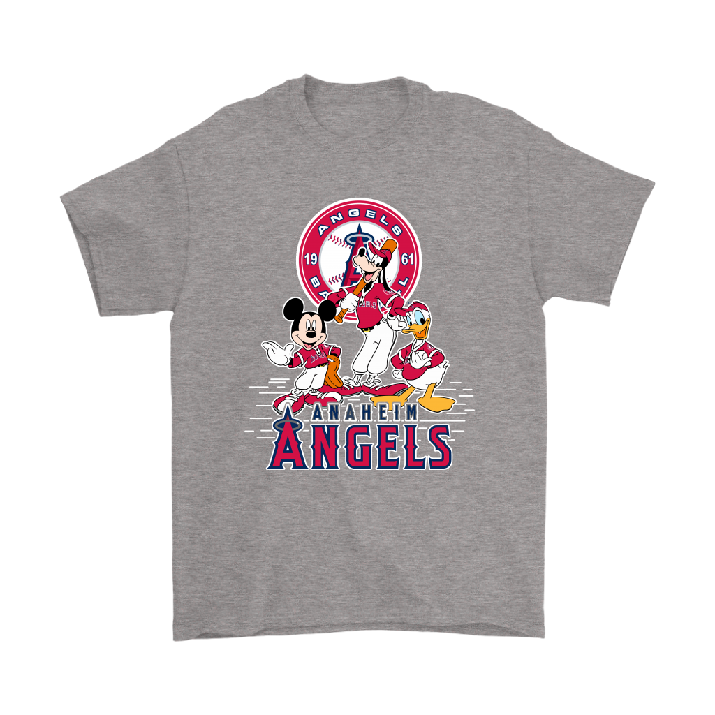 Well known Los Angeles Angels Baseball Mickey Mouse MLB Disney Sports Shirts  OD62
