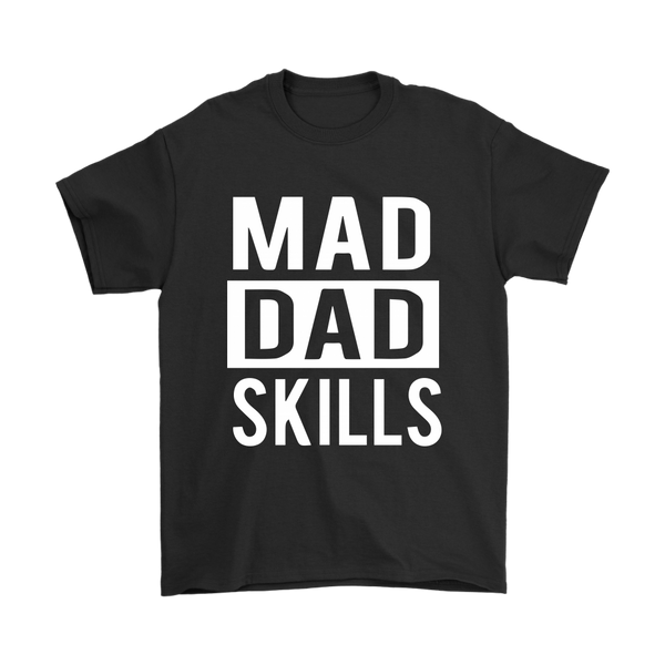 Mad Dad Skills Family Shirts-T-shirt-Gildan Mens T-Shirt-Black-S-Itees Global