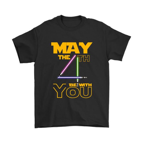 May The 4th Be With You Star Wars Shirts-T-shirt-Gildan Mens T-Shirt-Black-S-Itees Global