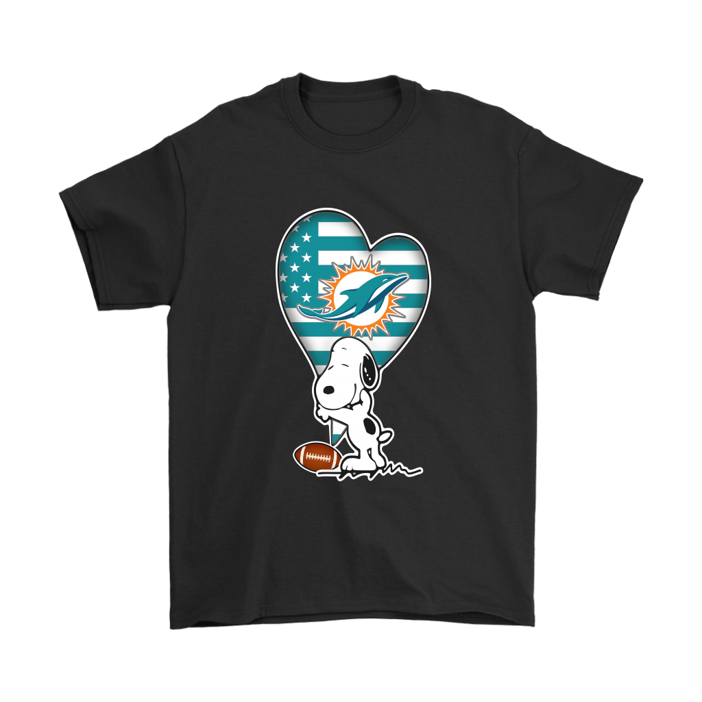 Miami Dolphins Snoopy Football Sports Shirts