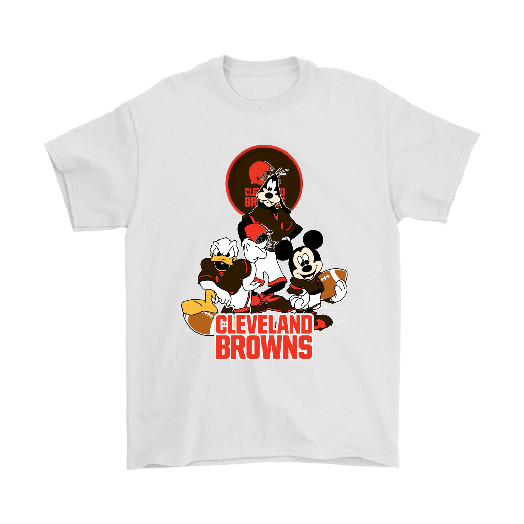 f9ecbef78332 Mickey Mouse NFL Cleveland Browns American Football Sports Shirts ...
