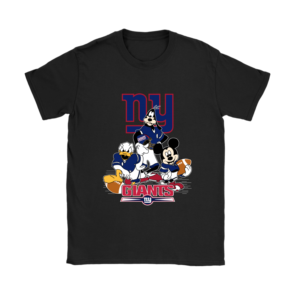 Mickey Mouse NFL New York Giants American Football Sports Shirts Women