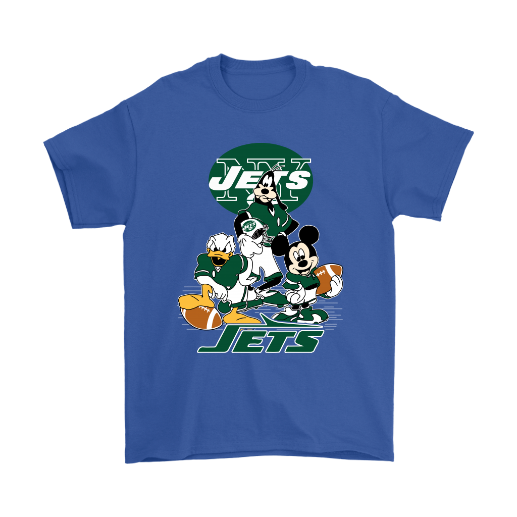 Mickey Mouse NFL New York Jets American Football Sports Shirts.
