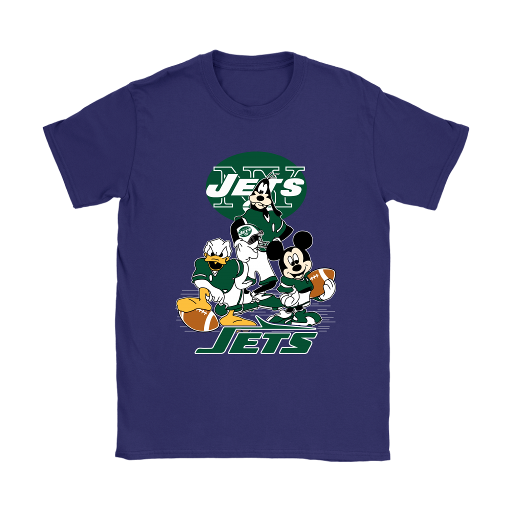 Mickey Mouse NFL New York Jets American Football Sports Shirts. Women