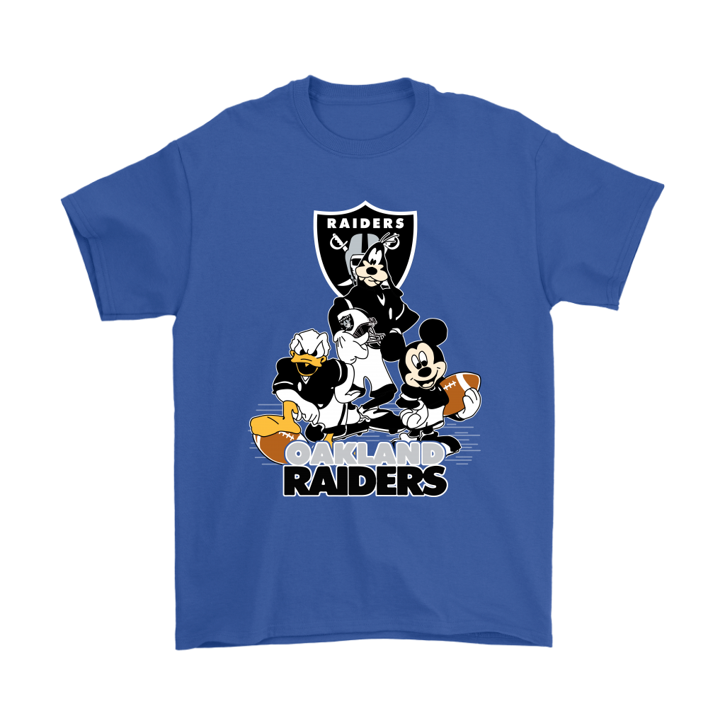 Mickey Mouse NFL Oakland Raiders American Football Sports Shirts