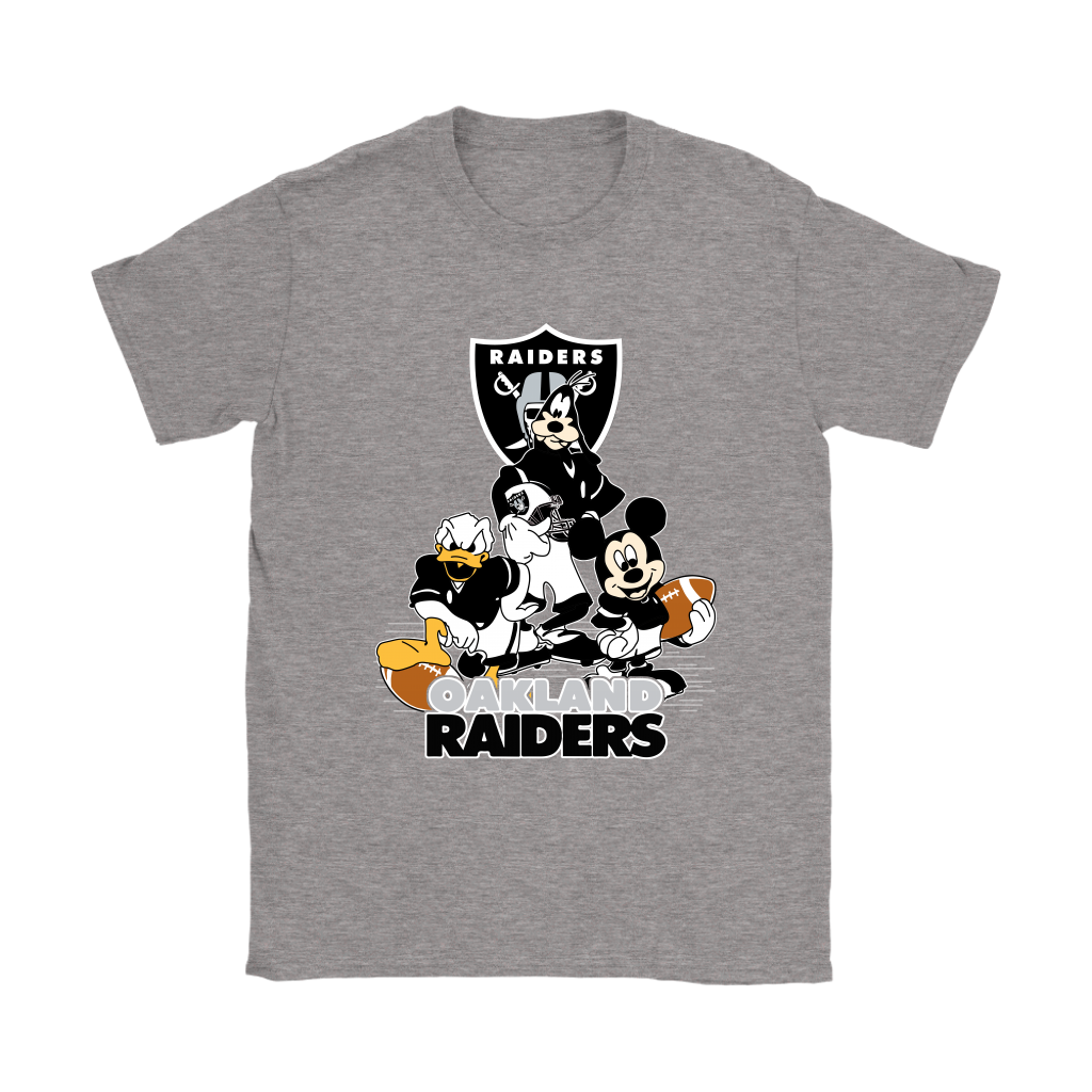 Mickey Mouse NFL Oakland Raiders American Football Sports Shirts Women