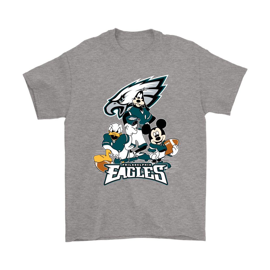 Mickey Mouse NFL Philadelphia Eagles American Football Sports Shirts-T-shirt-Gildan Mens T-Shirt-Sport Grey-S-Itees Global