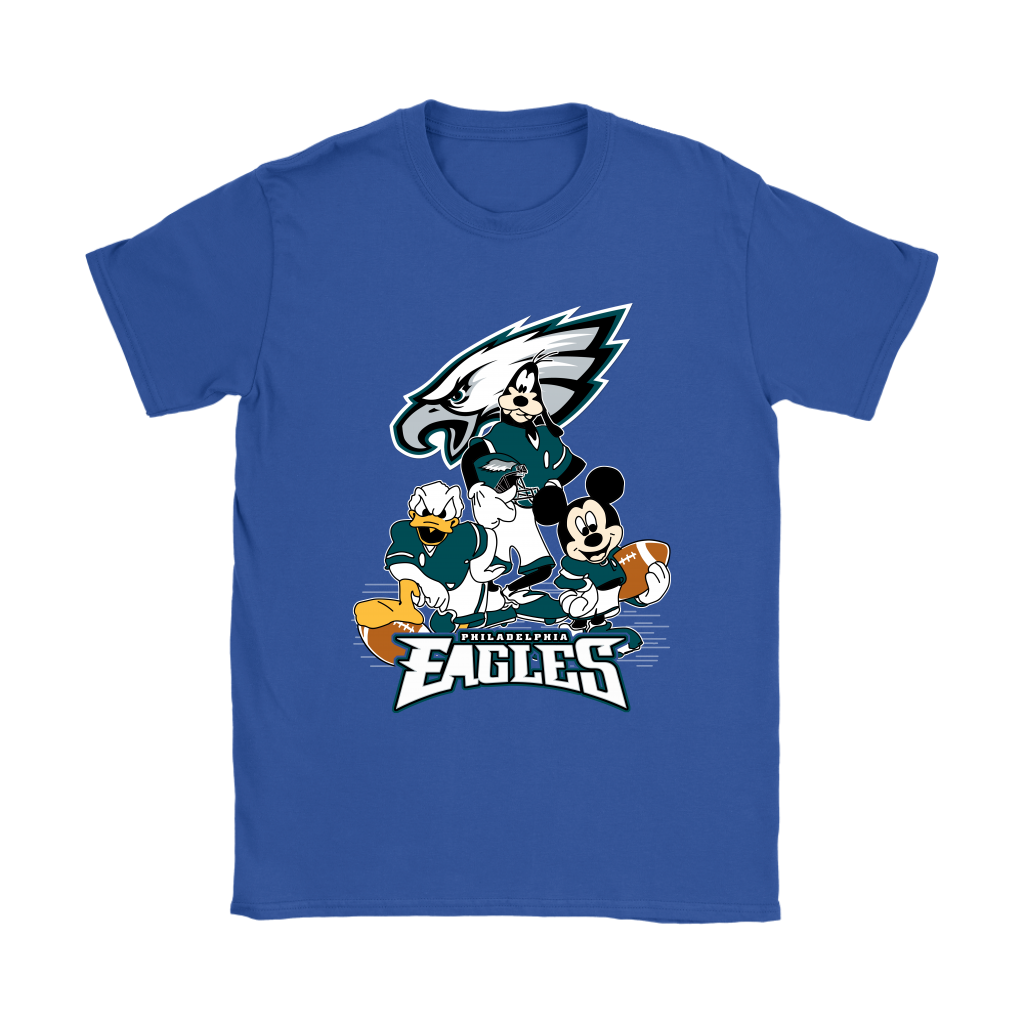 Mickey Mouse NFL Philadelphia Eagles American Football Sports Shirts-T-shirt-Gildan Womens T-Shirt-Royal Blue-S-Itees Global