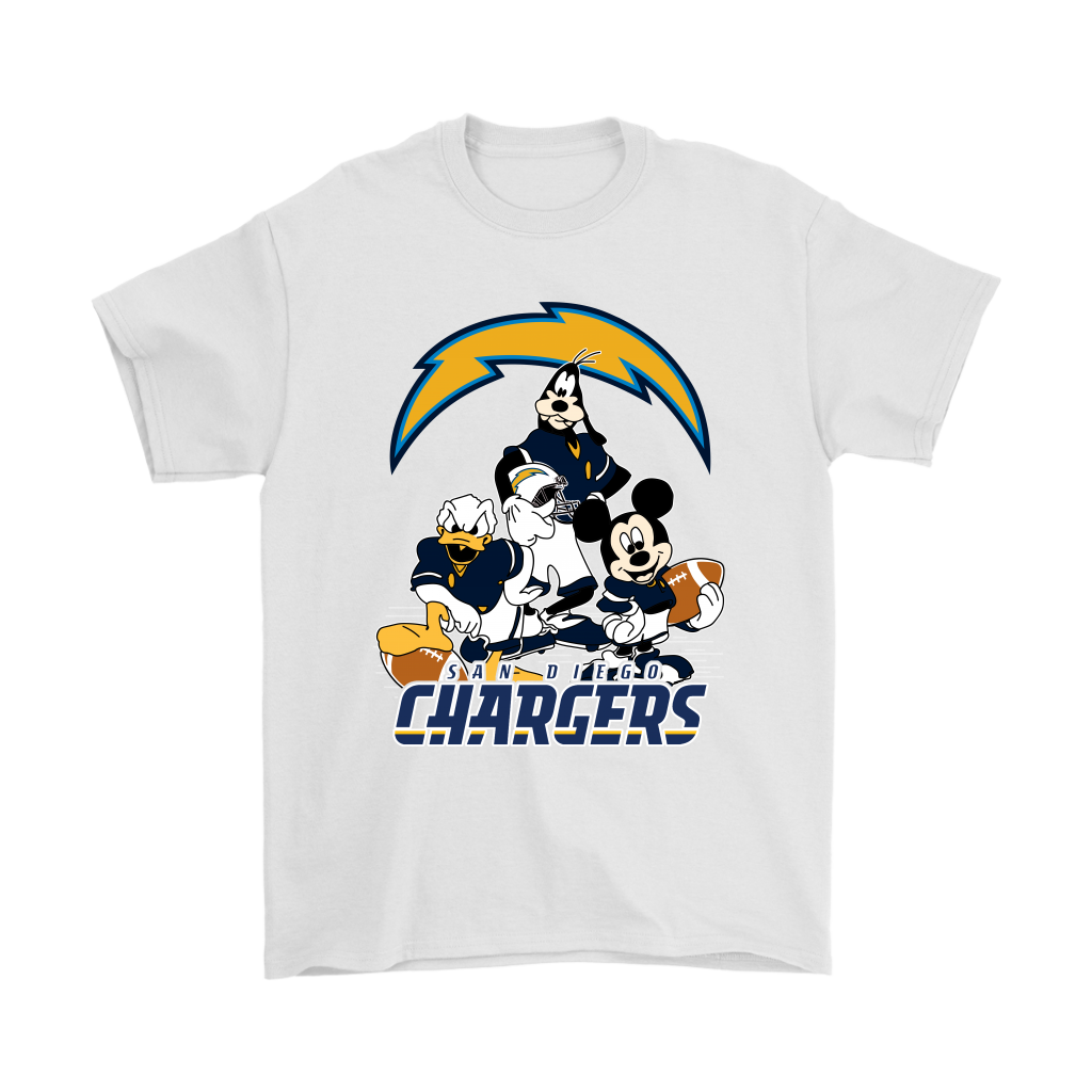 Mickey Mouse NFL San Diego Chargers American Football Sports Shirts