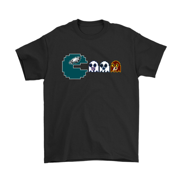 NFL - American Football Philadelphia Eagles Pacman Shirts-T-shirt-Gildan Mens T-Shirt-Black-S-Itees Global