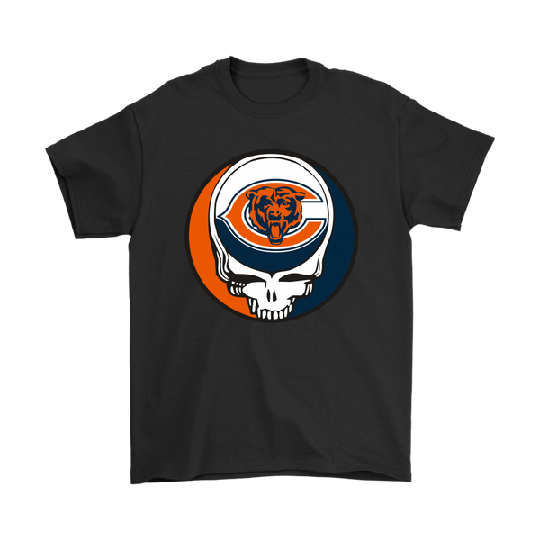 NFL - Chicago Bears Grateful Dead Steal Your Face Football NFL Shirts-T-shirt-Gildan Mens T-Shirt-Black-S-Itees Global
