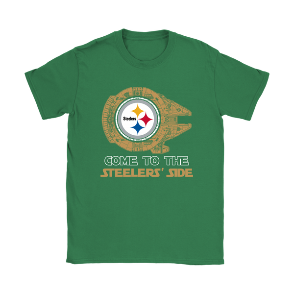 NFL - Come To The Pittsburgh Steelers' Side Star Wars Shirts-T-shirt-Gildan Mens T-Shirt-Black-S-Itees Global