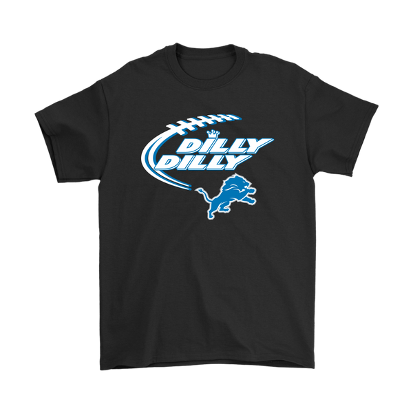 NFL – Dilly Dilly Detroit Lions Football Shirts-T-shirt-Gildan Mens T-Shirt-Black-S-Itees Global