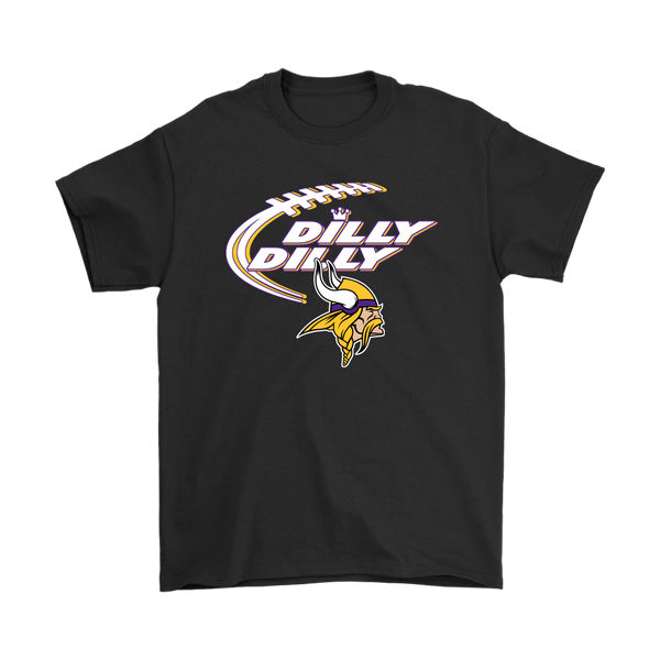 NFL – Dilly Dilly Minnesota Vikings Football Shirts-T-shirt-Gildan Mens T-Shirt-Black-S-Itees Global