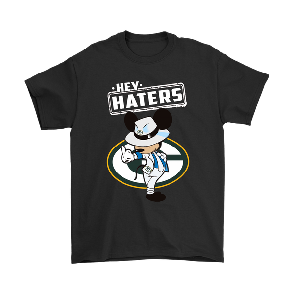NFL - Green Bay Packers Mickey Mouse Hey Haters Shirts-T-shirt-Gildan Mens T-Shirt-Black-S-Itees Global