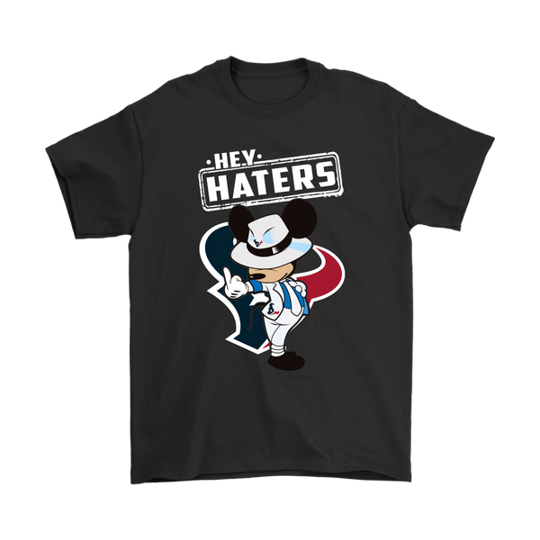 NFL - Houston Texans Mickey Mouse Hey Haters Shirts-T-shirt-Gildan Mens T-Shirt-Black-S-Itees Global