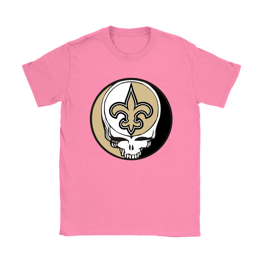 NFL - New Orleans Saints Grateful Dead Steal Your Face Football NFL Shirts-T-shirt-Gildan Womens T-Shirt-Azalea-S-Itees Global