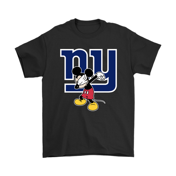 NFL - New York Giants Mickey Mouse Dabbing NFL Football Shirts-T-shirt-Gildan Mens T-Shirt-Black-S-Itees Global