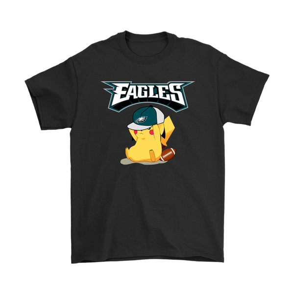 NFL – Philadelphia Eagles American Football Pikachu Shirts-T-shirt-Gildan Mens T-Shirt-Black-S-Itees Global