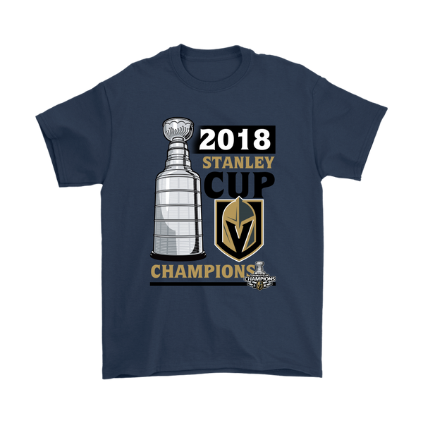 NHL - 2018 Stanley Cup Vegas Golden Knights Champion Shirts-T-shirt-Gildan Mens T-Shirt-Navy-S-Itees Global