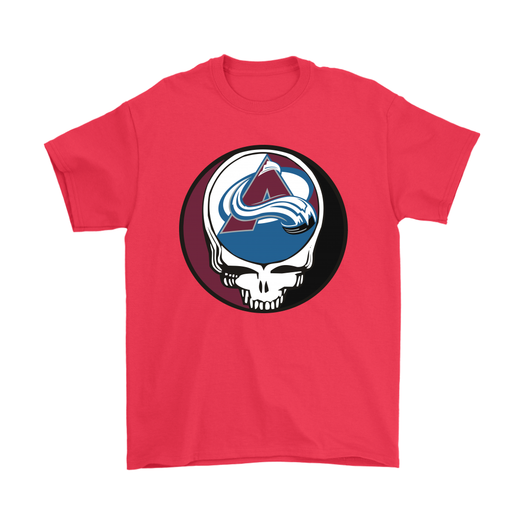 NHL - Colorado Avalanche Grateful Dead Steal Your Face Hockey NHL Shirts-T-shirt-Gildan Mens T-Shirt-Red-S-Itees Global