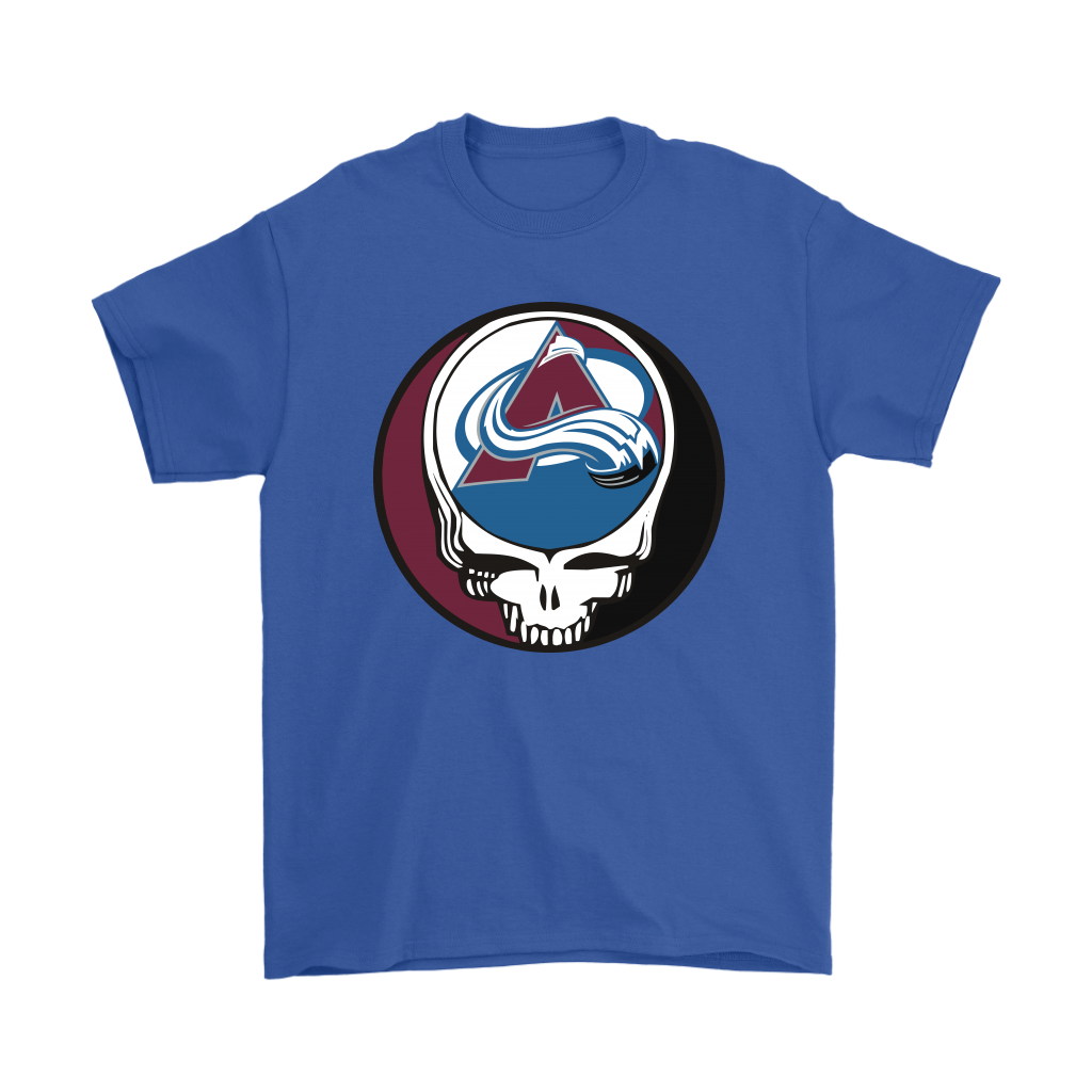 NHL - Colorado Avalanche Grateful Dead Steal Your Face Hockey NHL Shirts-T-shirt-Gildan Mens T-Shirt-Royal Blue-S-Itees Global