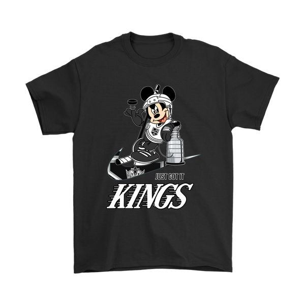 NHL – Los Angeles Kings Stanley Cup Nike Mickey Mouse Shirts-T-shirt-Gildan Mens T-Shirt-Black-S-Itees Global