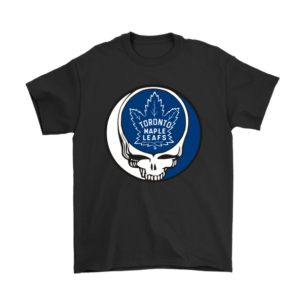 NHL - Toronto Maple Leafs Grateful Dead Steal Your Face Hockey NHL Shirts-T-shirt-Gildan Mens T-Shirt-Black-S-Itees Global