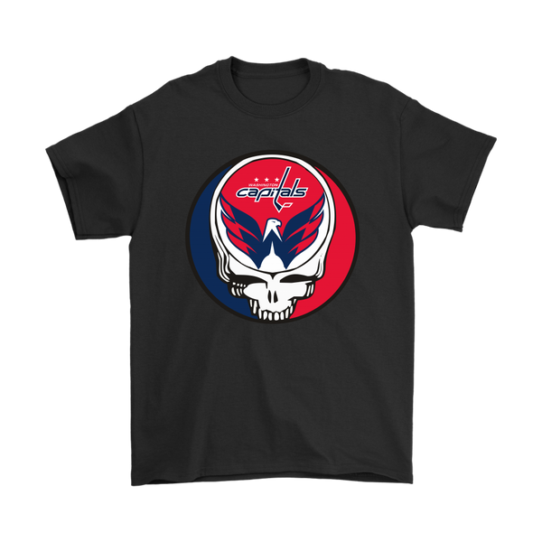 NHL - Washington Capitals Grateful Dead Hockey Shirts-T-shirt-Gildan Mens T-Shirt-Black-S-Itees Global
