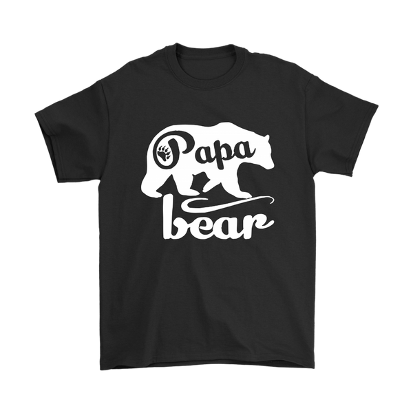 Papa Bear Family Shirts-T-shirt-Gildan Mens T-Shirt-Black-S-Itees Global