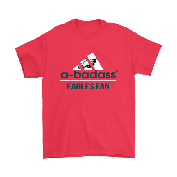 Philadelphia Eagles A Badass Football Sports Shirts-T-shirt-Gildan Mens T-Shirt-Red-S-Itees Global