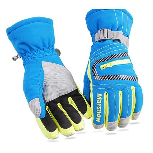 High Quality Ski Gloves Waterproof Warm Unisex Hockey Gloves Winter Outdoor Sport Mountain Skiing Snowboard Gloves for Women Kid-Accessories-Blue-S-Itees Global