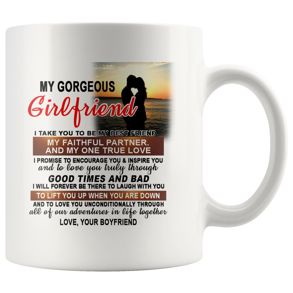 My Gorgeous Girlfriend I Take You To Be My Best Friend My Faithful Partner And My One True Love Valentine's Day Mugs-Drinkware-My Girlfriend-Itees Global