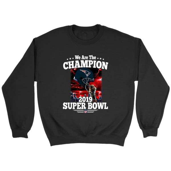 NFL – New England Patriots We Are The Champion 2019 Super Bowl Football Shirts-T-shirt-Crewneck Sweatshirt-Black-S-Itees Global