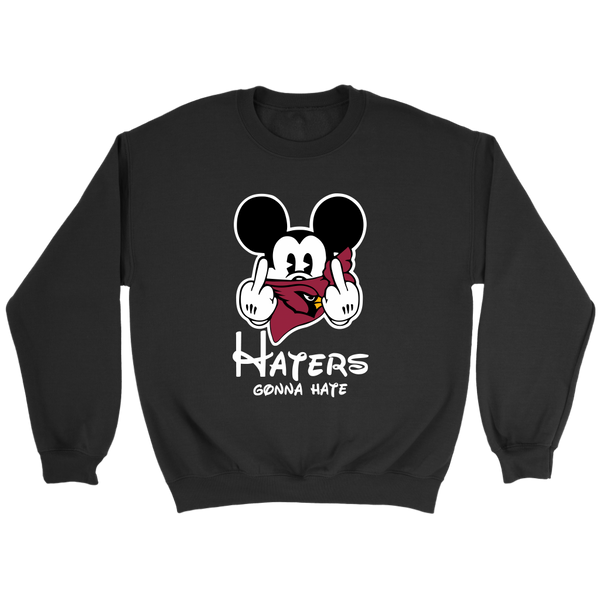 NFL – Arizona Cardinals Mickey Mouse Haters Gonna Hate Football Shirts-T-shirt-Crewneck Sweatshirt-Black-S-Itees Global