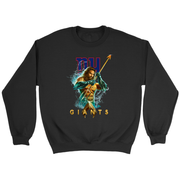 NFL – New York Giants Aquaman Football Shirts-T-shirt-Crewneck Sweatshirt-Black-S-Itees Global