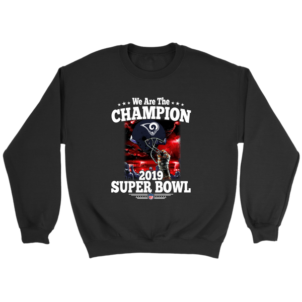 NFL – Los Angeles Rams We Are The Champion 2019 Super Bowl Football Shirts-T-shirt-Crewneck Sweatshirt-Black-S-Itees Global
