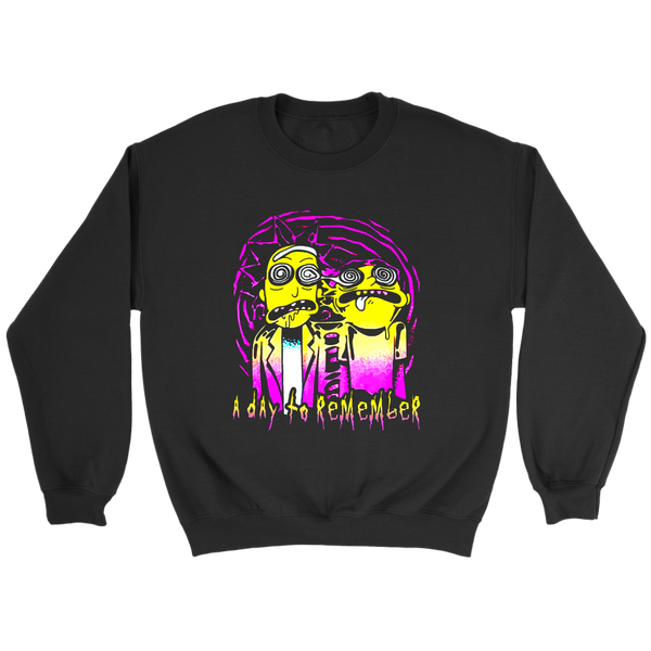 A Day To Remember Rick And Morty Sweatshirt-T-shirt-Crewneck Sweatshirt-Black-S-Itees Global