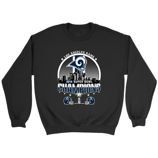 NFL – Los Angeles Rams 2019 Super Bowl Champions Football Shirts-T-shirt-Crewneck Sweatshirt-Black-S-Itees Global