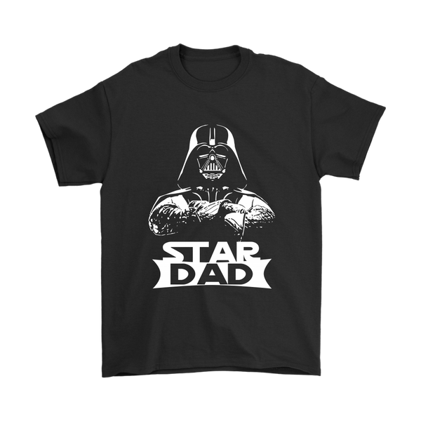 Star Dad Darth Vader Star Wars Shirts-T-shirt-Gildan Mens T-Shirt-Black-S-Itees Global