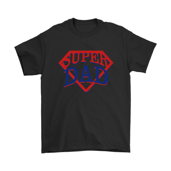 Super Dad Family Shirts-T-shirt-Gildan Mens T-Shirt-Black-S-Itees Global