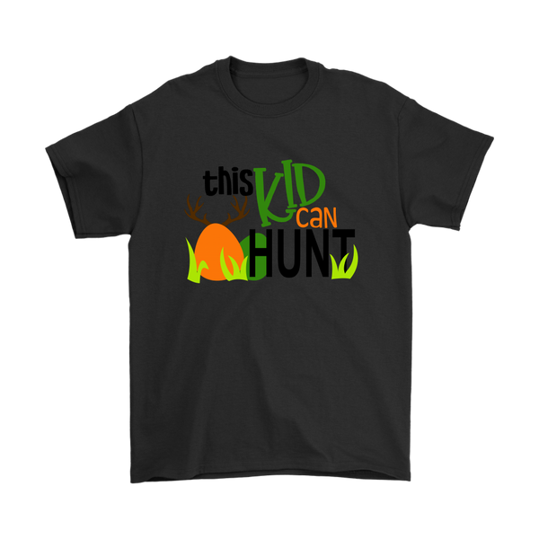 This Kid Can Hunt Easter Shirts-T-shirt-Gildan Mens T-Shirt-Black-S-Itees Global