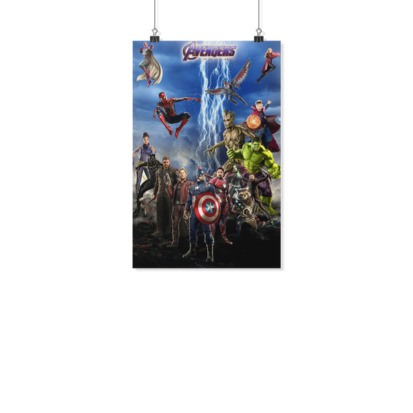 Avengers : Endgame Marvel Thanos Hulk Ironman Thor Vision Captain America Posters-Posters 2-11x17-Defaulf Color-Itees Global