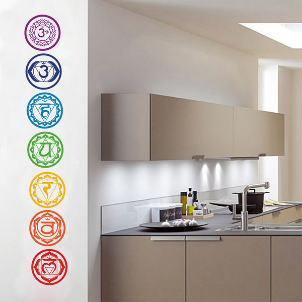 Chakras Vinyl Wall Stickers - 7pcs/set